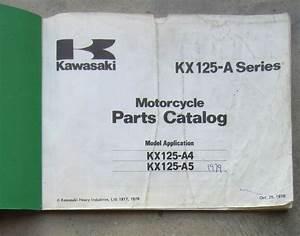 Kawasaki Kx125 1978 Workshop Parts List Manual For Kx 125