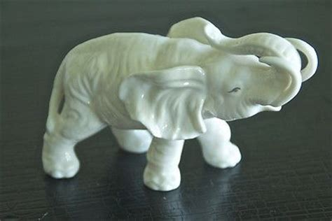 vintage lenwile ardalt china white elephant figurine