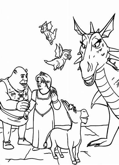 Shrek Coloring Pages Diy Birthday Costume Fiona