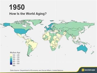 Map 1950 2100 Age Structure Demographics Population