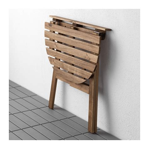 askholmen table for wall outdoor folding grey brown