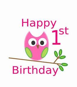 Owl 1st Birthday Clip Art at Clker.com - vector clip art ...