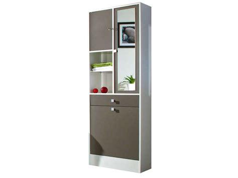 meuble salle de bain bac a linge integre armoire salle de bain avec bac 224 linge int 233 gr 233 taupe l 62 6 cm pas cher