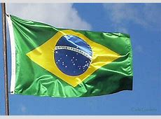 ao vento Bandeira do Brasil, tremulando ao vento