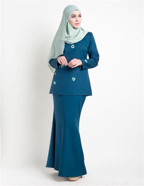baju kurung moden pendek adelia turquoise