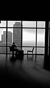 City View Window Architecture Black White Empty Room ...