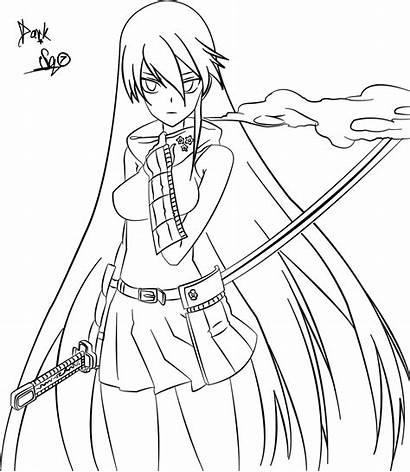 Akame Anime Kill Ga Coloring Tatsumi Dark
