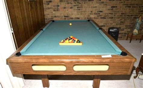 pool tables with ball return for sale briarwood 4 pool table crafted by brunswick for sears