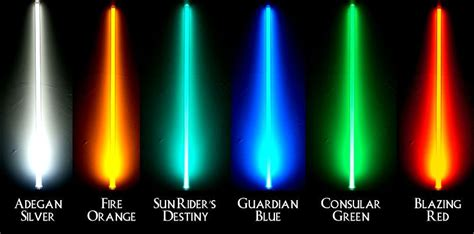 what color lightsaber lightsaber color meanings lightsaber colors wars