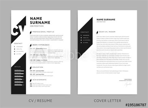Minimalist Cv / Resume And Cover Letter-minimal Design
