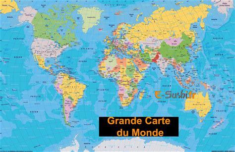 Carte Du Monde Simple by Carte Mondiale Arts Et Voyages