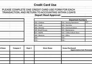 credit card reconciliation form churchtecharts With credit card statement template excel