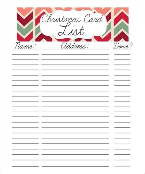 24+ Christmas Gift List Templates - Free Printable Word