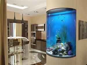 Aquarium Deko Ideen : wundervolles k chendesign mit aquarium das den ozean mit ~ Lizthompson.info Haus und Dekorationen