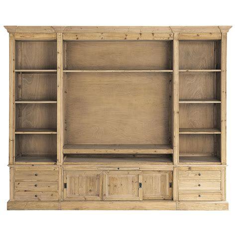 meuble cuisine bois recyclé bibliothèque meuble tv en bois massif recyclé l 264 cm