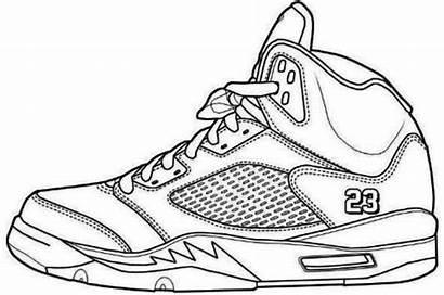 Coloring Jordan Michael Jordans Printable Nike Shoe