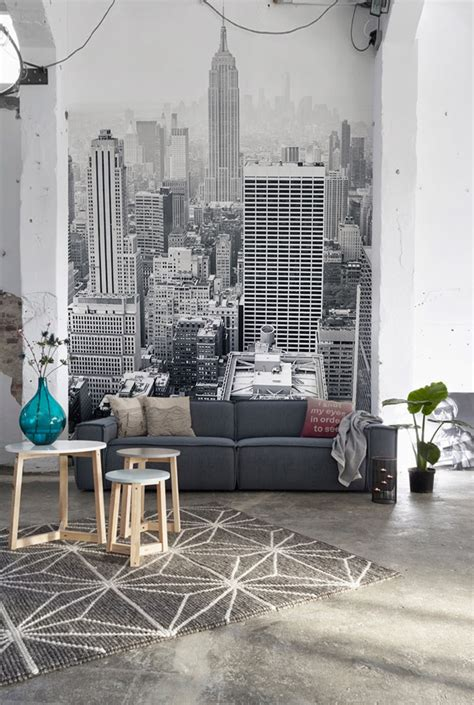 Living Room Wallpaper City by Amazing Decorating Tips To Use Wallpaper 22 Ideas Home
