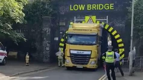 hgv size   matter dont  stuck   bridge