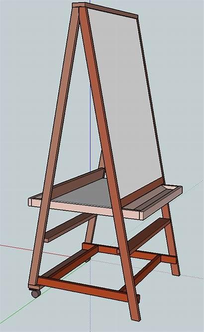 Diy Easel Plans Teaching Easy Build Ana