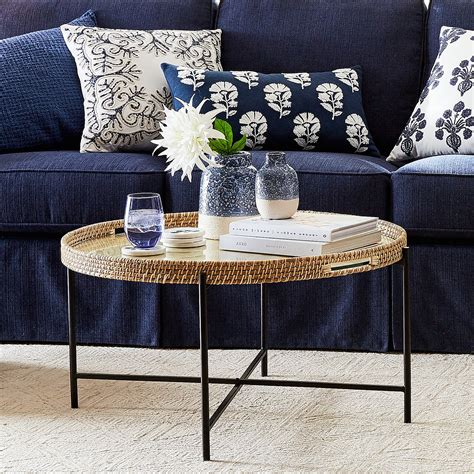 Whether you're looking to showcase trinkets, wrangle beauty products, or serve up some drinks, a gold tray is a simple and. Larissa Natural & Black Tray Coffee Table - Pier1
