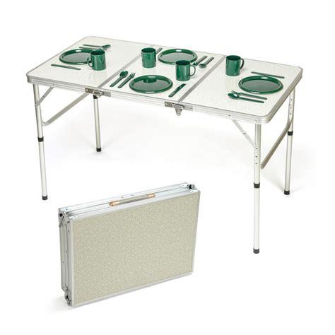 aluminum portable folding table trademark innovations portable adjustable lightweight