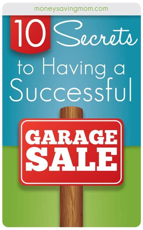 Garage Sales - 10 tips for a successful garage sale