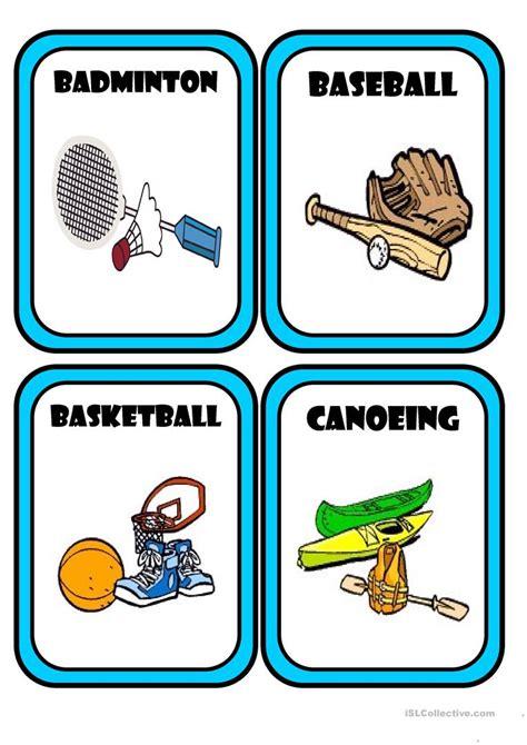 Sports Equipment Worksheet  Free Esl Printable Worksheets Made By Teachers