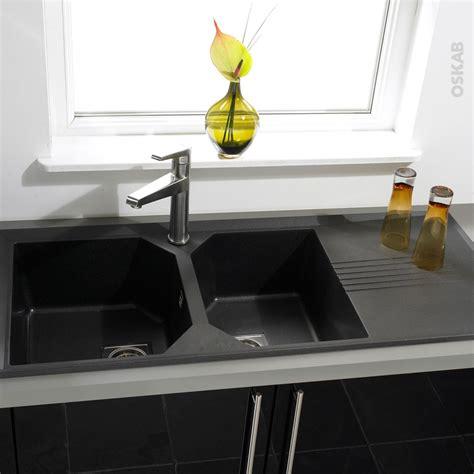 evier de cuisine noir evier cuisine granit noir evier cuisine grande largeur