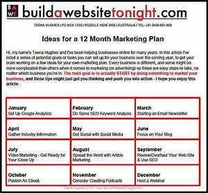 12 month business plan pdfeports585webfc2com With 12 month marketing plan template