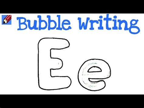 draw bubble writing real easy letter  youtube