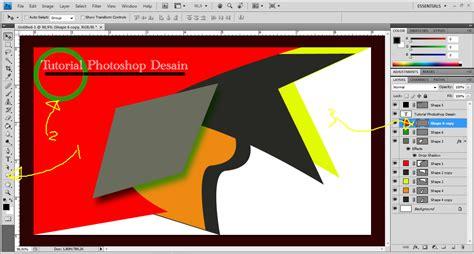 tutorial photoshop  membuat  contoh desain kartu