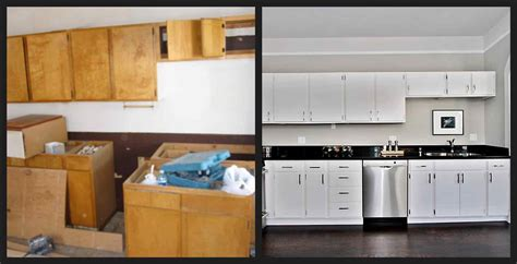 Home Depot Kitchen Before And After by Top 10 Pictures Of Painted Kitchen Cabinets Before And
