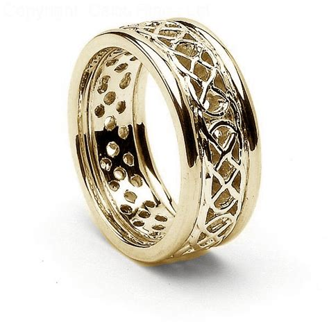 pierced celtic knot ring with trim celtic rings ltd