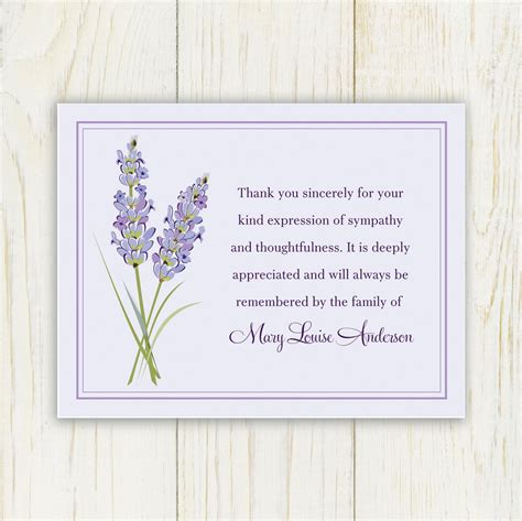 Adobe spark makes the design process simple and easy, so you can enjoy the time spent expressing gratitude. Lavendar Funeral Thank You Card Printable Digital file