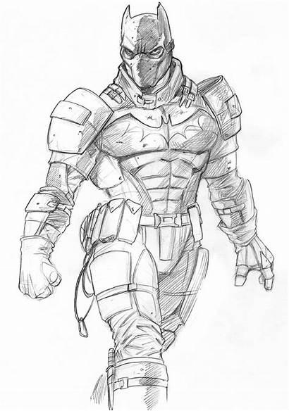 Sketch Batman Drawings Sketches Cool Comic Drawing