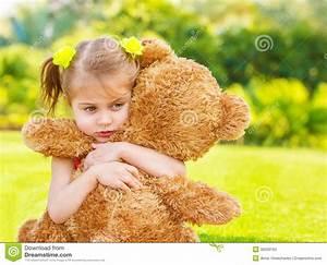 Sad Girl With Teddy Bear Stock Photos - Image: 30230193