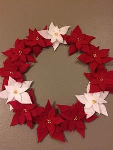 Five Petal Flower Template Diy Felt Poinsettia Wreath