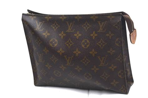 authentic louis vuitton monogram pm toilette cosmetic