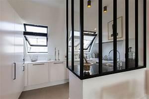 verriere interieure 12 photos pour cloisonner l39espace With meuble separation cuisine salon 11 cloison verriare atelier de leroy merlin rustique