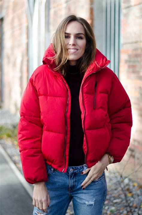 Red Puffer Jacket Fall 2016 Outfit My Style And Outfits