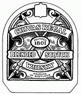 Chivas Whisky Labels Party Botellas Drawing Negro Blanco Bottles Imagenes Etiquetas Getdrawings sketch template