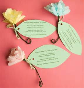 Invitations with Paper Flowers