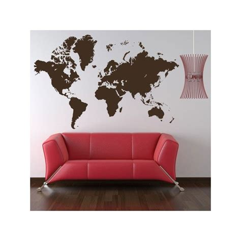 Carte Monde Deco by Sticker Carte Monde Adh 233 Sif D 233 Coratif Sticker