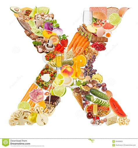 letter x made of food stock photos image 26400853