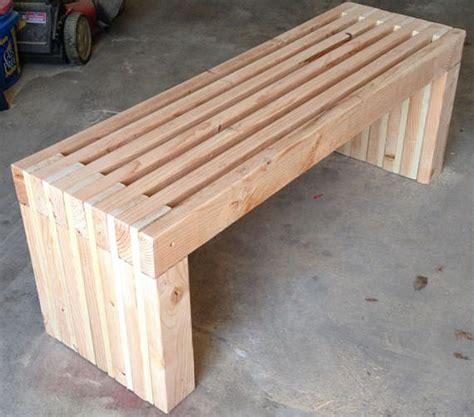 indoor outdoor  bench plans diy fast  easy  build