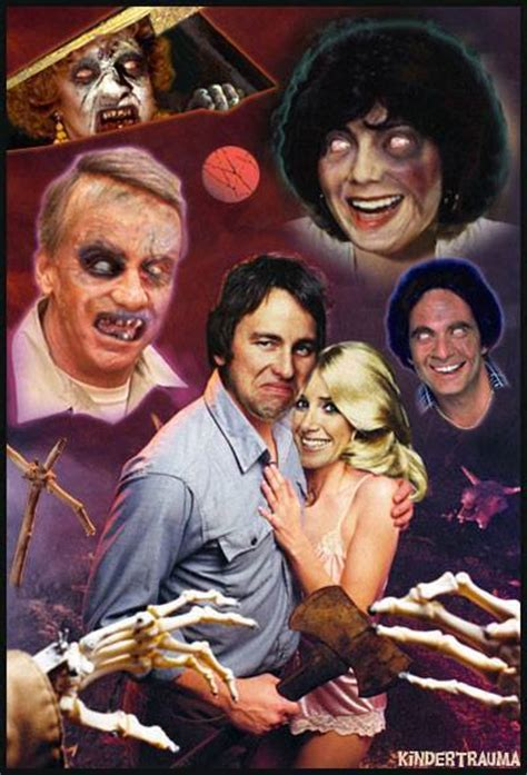 The Evil Dead X Three's Company Mashup Poster