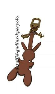 louis vuitton  jeff koons poppy pink rabbit bag charmkeyholder  ghw rghw ebay