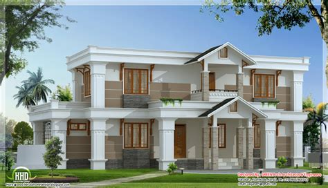 house designer modern mix sloping roof home design 2650 sq