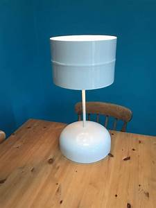 Hand crafted table lamp made from recycled materials by for Table lamp from waste material