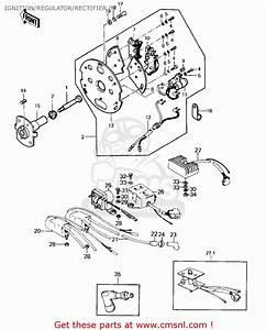 Kawasaki Kz1000a2 Kz1000 1978 Canada Ignition  Regulator  Rectifier   U0026 39 7